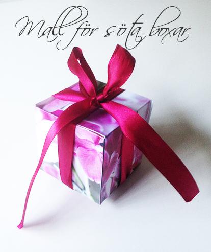 Box med orkidé för alla hjärtans dag