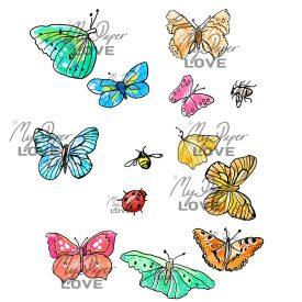 Fjärilar småkryp färglagda bilder