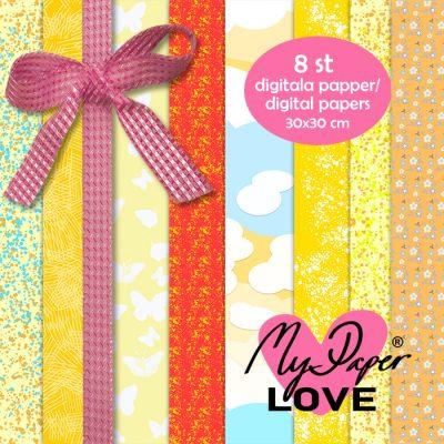 Digitala papper gula mönster