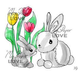 Kaniner ladda ner påskkort