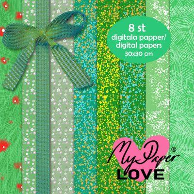 Digitala gröna papper till korttillverkning