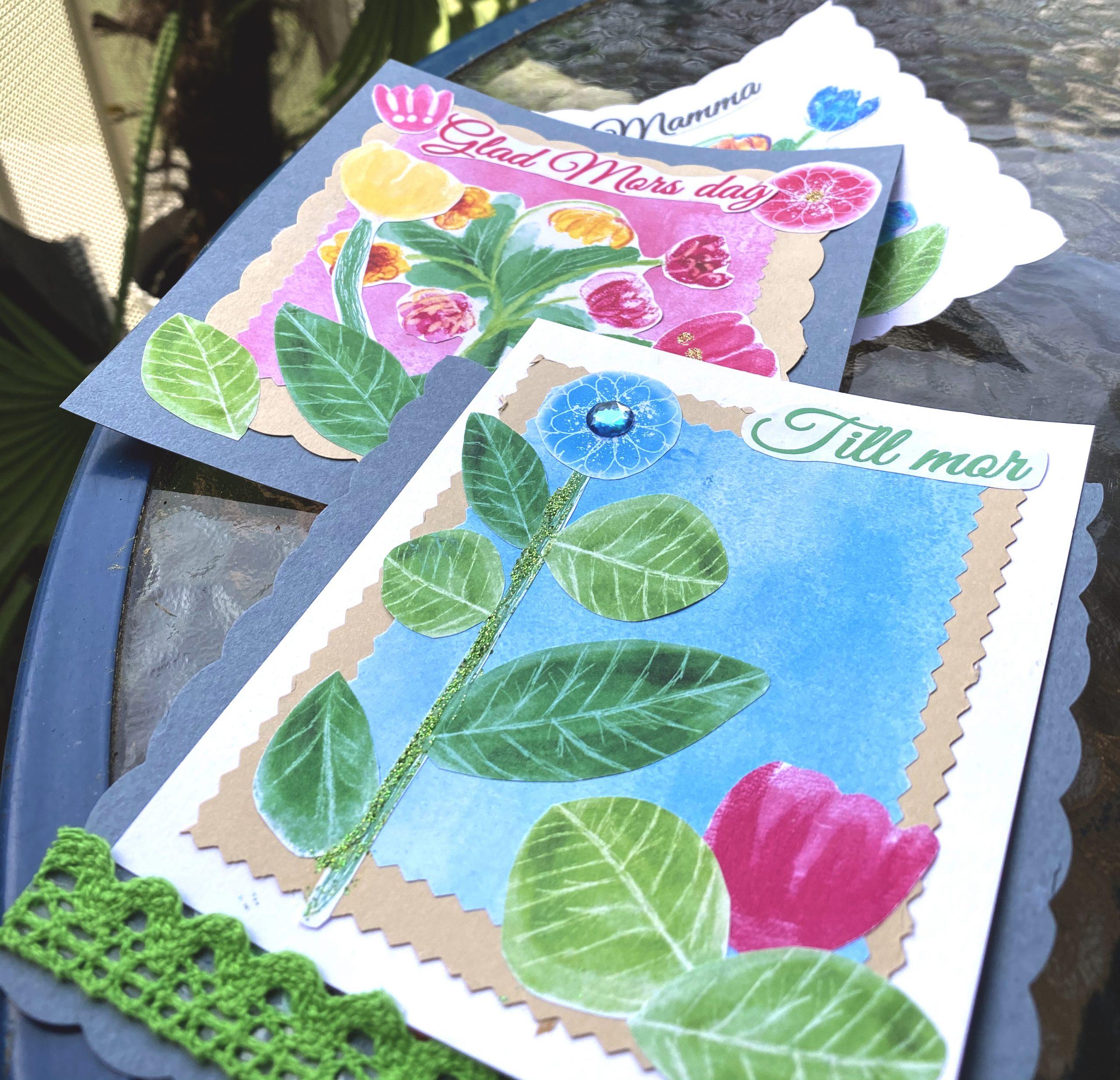 Inspiration rosa blommor digital stämpel