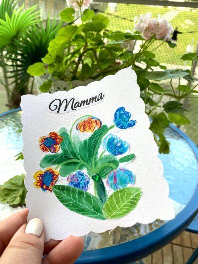 Inspiration flowers digital stamp